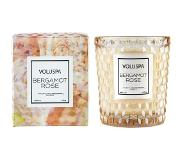 Voluspa Roses Bergamot Rose Boxed Textured Glass Candle 184 g