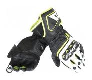 Dainese Carbon D1 Long Black White Fluo Yellow Motorcycle Gloves 2XL