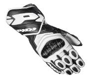 Spidi Carbo 7 Black White Motorcycle Gloves L