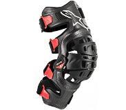 Alpinestars Bionic-10 Black Red Carbon Left Knee Brace S