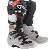 Alpinestars Tech 7 Black Silver White Gold Motorcycle Boots 13