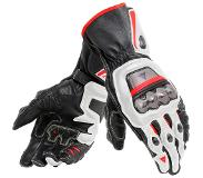 Dainese Full Metal 6 Black White Lava Red Motorcycle Gloves 2XL