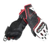 Dainese Carbon D1 Long Black White Lava Red Motorcycle Gloves 2XL