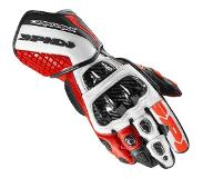 Spidi Carbo Track Evo Black Red White Motorcycle Gloves XL
