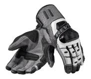 REVIT! Cayenne Pro Silver Black Motorcycle Gloves S