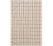 Ferm Living Hale Tea Towel Sand/Black - Ferm Living