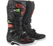Alpinestars Tech 7 Black Red Green Motorcycle Boots 12