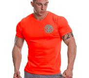 Gold's Gym Basic Left Chest T-shirt, Orange/Turquoise