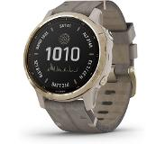 Garmin Fenix 6S Pro Solar Light Gold with Shale Suede älykello 010-02409-26