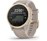 Garmin Fenix 6S Pro Solar Light Gold with Light Sand älykello 010-02409-11