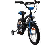 Amigo BMX Fun 14 Inch 21 cm Boys Coaster Brake Black/Blue(Wheel size 14 Inch)