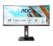"AOC CU34P2A 34"" QHD VA HAS USB/DP/HDMI"
