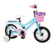 Volare Brilliant 12 Inch 21,5 cm Girls Coaster Brake Blue/White(Wheel size 12 Inch)