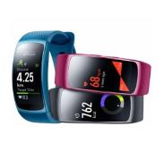 Samsung Wearable Gear FIT 2 SM-R3600 sis. Level U Bluetooth-kuulokkeet sininen