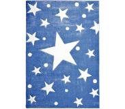 LIVONE Happy Rugs Lastenhuoneen matto, Stars/navy blue, 120 x 180 cm