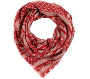 Day birger et mikkelsen DELUXE LINES SCARF Huivi coral red One Size