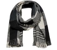 Only ONLOFAITH DOUBLESIDED CHECK SCARF Huivi black/white and grey tones One Size