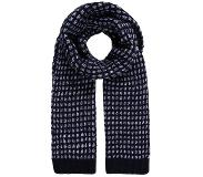 Calvin klein MARY HEAVY SCARF Huivi black/powder white/ombre blue One Size