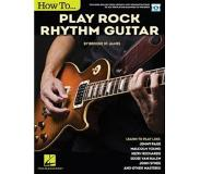 Book How to Play Rock Rhythm Guitar: Book with Online Video Lessons