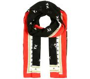 Armani Exchange Connected FOULARD Huivi black/white/poppy red One Size