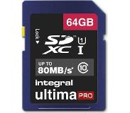 Integral 64GB SDXC UltimaPro flash-muisti Luokan 10 UHS-I