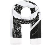 Calvin klein ALLOVER SCARF Huivi black One Size