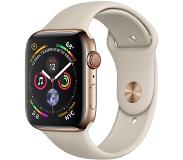 Apple Watch Series 4 Gps + cellular, 44mm Gold Stainless Steel Case With Stone Sport Band_x000d_