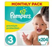 Pampers Premium Protection, koko 3 (5-9) kg, 204 kpl