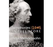 Book Symphonies Nos. 3, 4 and 5 in Full Score