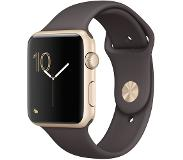 Apple Watch Series 1, 42mm Gold Aluminium Case with Cocoa Sport Band
