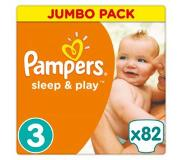 Pampers Sleep & Play Vaipat, koko 3 (5-9 kg), Jumbo Pack 82 kpl