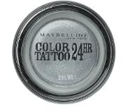 Maybelline Color Tattoo 24HR 50 Eternal Silver luomiväri Hopea
