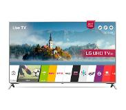 "LG 43UJ651V LED-televisio 109,2 cm (43"") 4K Ultra HD Smart TV Wi-Fi Musta, Hopea"