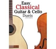 Book Easy Classical Guitar & Cello Duets: Featuring Music of Beethoven, Bach, Handel, Pachelbel and Other Composers. in Standard Notation and Tablature
