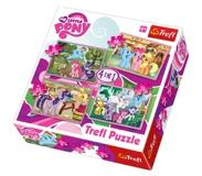 Trefl Palapeli 4 in 1 - My Little Pony Ponies Holiday