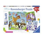 Ravensburger Disney Friends -palapeli, 3 x 49 palaa