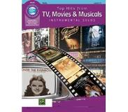 Book 9781470633004 Top Hits from TV, Movies & Musicals Instrumental Solos for Strings: Violin, Book & CD