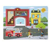 Melissa & Doug Palapeli Around the Fire Station Sound