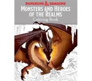 Book Monsters and Heroes of the Realms: A Dungeons & Dragons Coloring Book