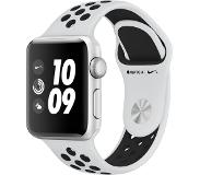 Apple WATCH SERIES 3 NIKE+ 38MM PLATINA/MUSTA URHEILURANNEKE