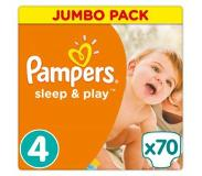 Pampers Sleep & Play Vaipat, koko 4 (8-16 kg), Jumbo Pack 70 kpl