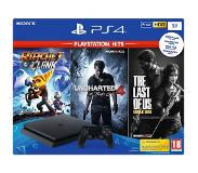 Playstation 4 PS4 Slim 1 Tt pelikonsoli+Uncharted 4+Ratchet & Clank+The Last of Us