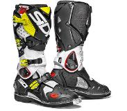 Sidi Crossfire 2 White Black Yellow Fluo Motorcycle Boots 47