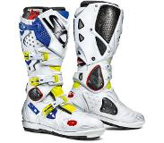 Sidi Crossfire 2 SRS Yellow Fluo White Blue Motorcycle Boots 41