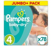 Pampers Baby Dry, koko 4 (8-16 kg), Jumbo Plus Pack 78 kpl