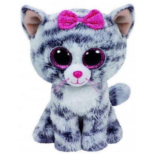 Pehmolelu: Ty Beanie Boo Kiki The Cat Grey Plush Toy (40cm