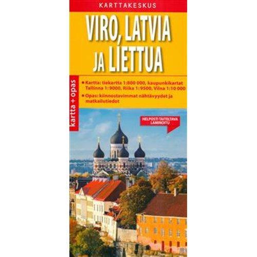 Book Viro Latvia Liettua Kartta Opas 1 800 000 M