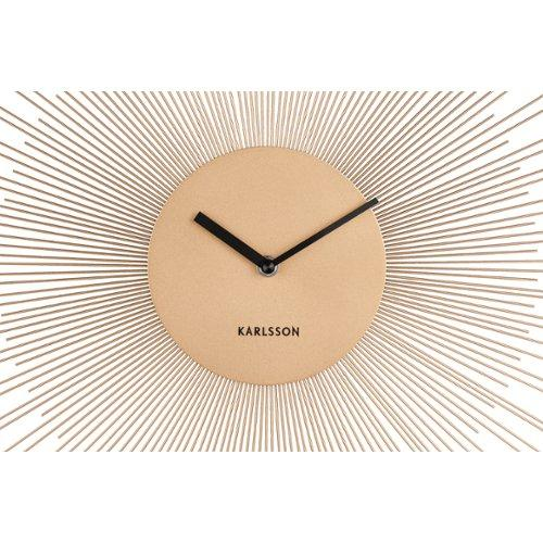 Karlsson Wandklok Mr White Numbers.Karlsson Wall Clock Peony Steel 45