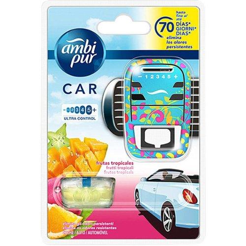 Ambi Pur Car Air Freshener Aparato + Recambio N Fruta Tropical